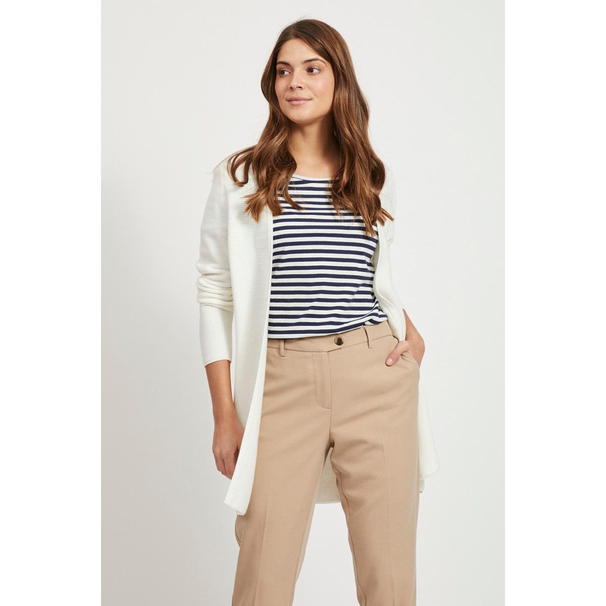 vilalaine knit l/s long cardigan - 14055174 vila vest white alyssum