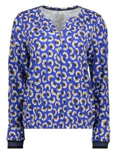Sandwich T-shirt T SHIRT MET LANGE MOUWEN 21101805 40031 SIGNAL BLUE