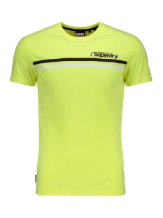 Superdry T-shirt SPORT STRIPE TEE M1010097A NEON YELLOW
