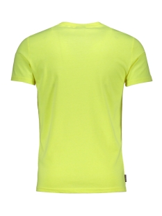 sport stripe tee m1010097a superdry t-shirt neon yellow