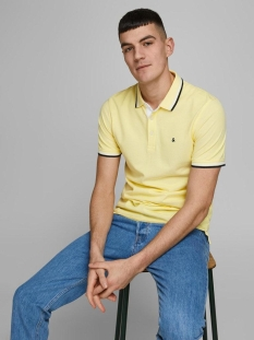 Jack & Jones Polo JJEPAULOS POLO SS NOOS 12136668 Lemon Drop/SLIM FIT