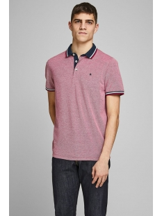 Jack & Jones Polo JJEPAULOS POLO SS NOOS 12136668 Rio Red/SLIM FIT