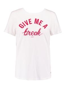 Garcia T-shirt T SHIRT MET FLOCKPRINT N00215 53 OFF WHITE