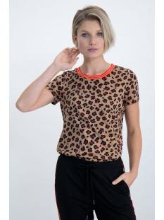 Garcia T-shirt T SHIRT MET PANTERPRINT N00209 1236 SAFARI BROWN