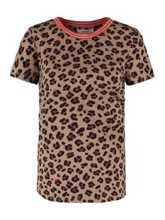 t shirt met panterprint n00209 garcia t-shirt 1236 safari brown