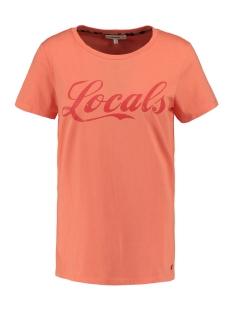 Garcia T-shirt T SHIRT MET TEKST PRINT N00212 1005 CORAL CRUSH