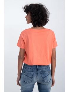 t shirt met tekst print n00212 garcia t-shirt 1005 coral crush