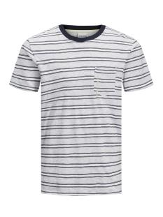 Jack & Jones T-shirt JCOKARTER TEE SS CREW NECK 12167478 White Melange/SLIM
