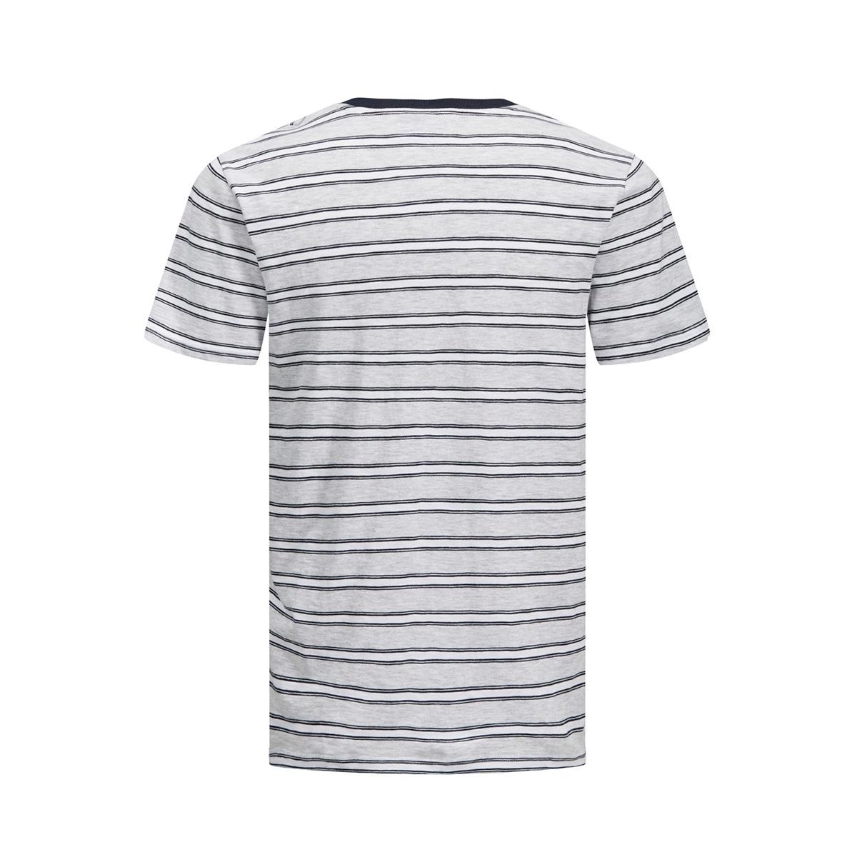 jcokarter tee ss crew neck 12167478 jack & jones t-shirt white melange/slim