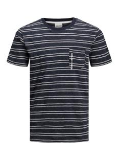Jack & Jones T-shirt JCOKARTER TEE SS CREW NECK 12167478 Sky Captain/SLIM/MEL