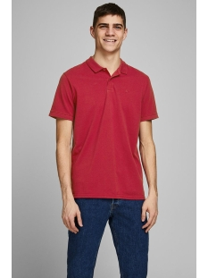 Jack & Jones Polo JJEBASIC POLO SS NOOS 12136516 Rio Red/SLIM FIT