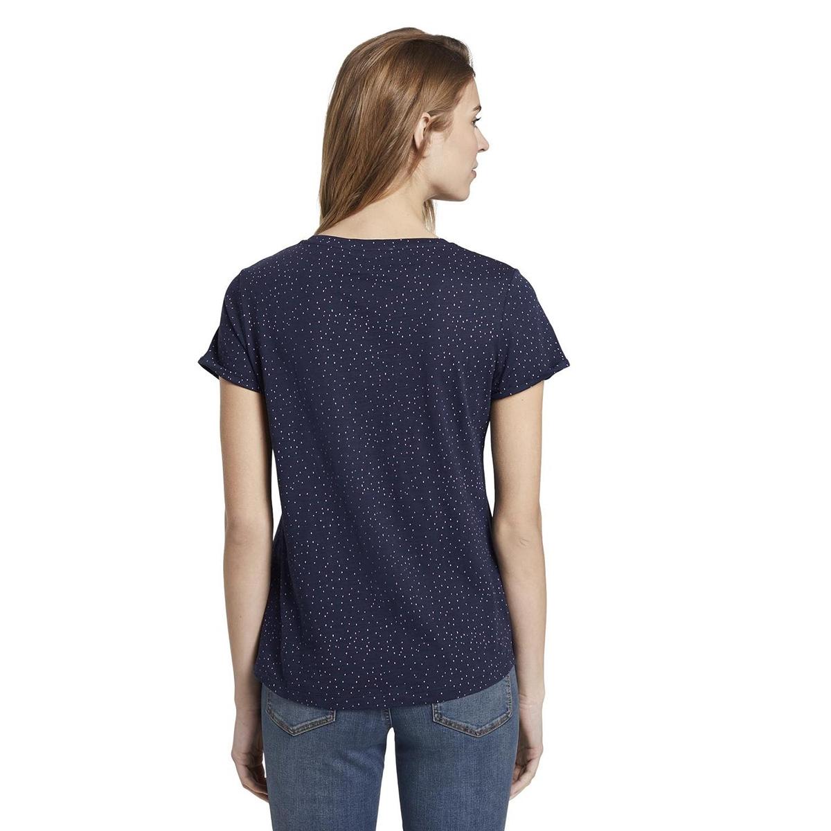 t shirt met stippen 1016434xx71 tom tailor t-shirt 21352