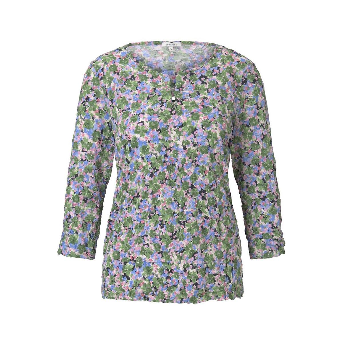 gedessineerd shirt in crinkle look 1017464xx70 tom tailor t-shirt 22098