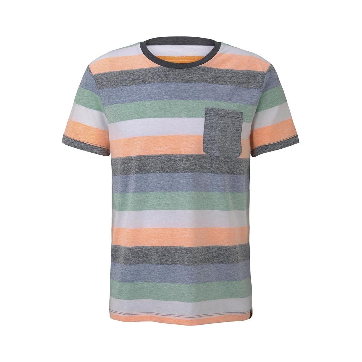 gestreept t shirt met borstzak 1017290xx12 tom tailor t-shirt 22193