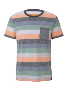 Tom Tailor T-shirt GESTREEPT T SHIRT MET BORSTZAK 1017290XX12 22193