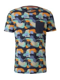 Tom Tailor T-shirt T SHIRT MET ALL OVER PRINT 1017291XX12 22055