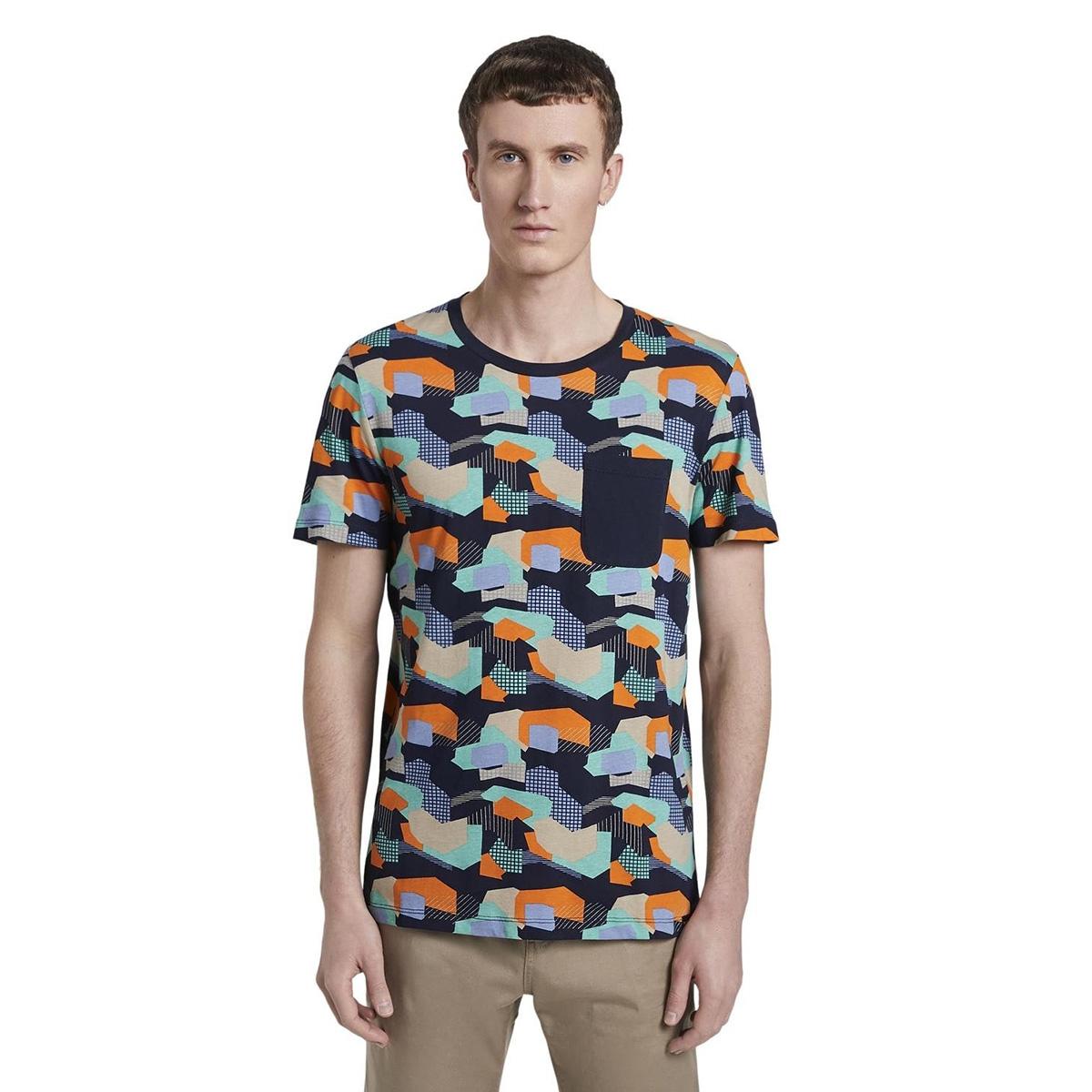 t shirt met all over print 1017291xx12 tom tailor t-shirt 22055