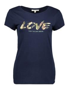 Tom Tailor T-shirt T SHIRT MET TEKST 1017504XX71 10360