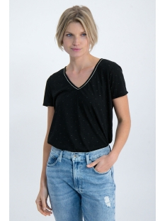 t shirt met geweven patroon n00208 garcia t-shirt 60 black