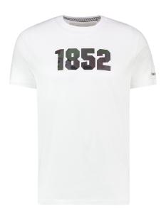 tee 1852 ma13 0012 haze & finn t-shirt white camo embro