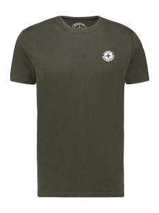 Haze & Finn T-shirt TEE LOGO EMBRO MU13 0010 ARMY GREEN