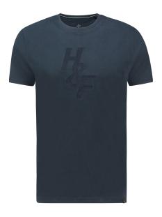 Haze & Finn T-shirt TEE HF JACQUARD EMBRO MC13 0004 SAPPHIRE