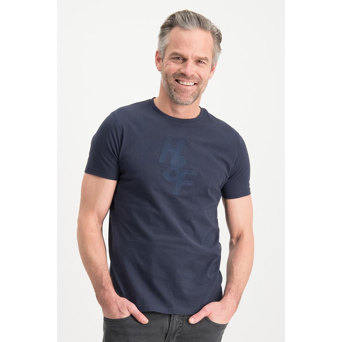 tee hf jacquard embro mc13 0004 haze & finn t-shirt sapphire