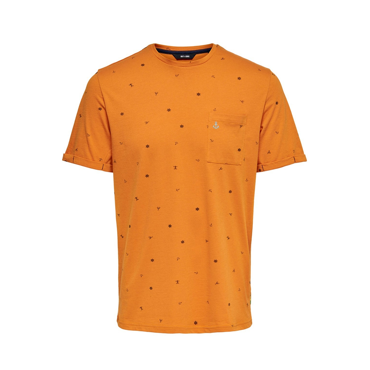 onsrussel reg ss aop tee 22015574 only & sons t-shirt marmalade
