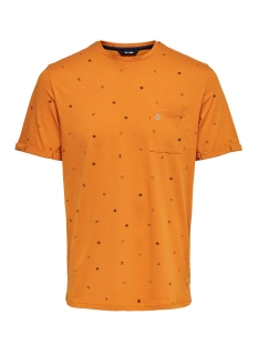 Only & Sons T-shirt ONSRUSSEL REG SS AOP TEE 22015574 Marmalade