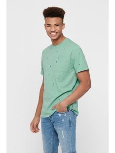 Only & Sons T-shirt ONSRUSSEL REG SS AOP TEE 22015574 Aquifer