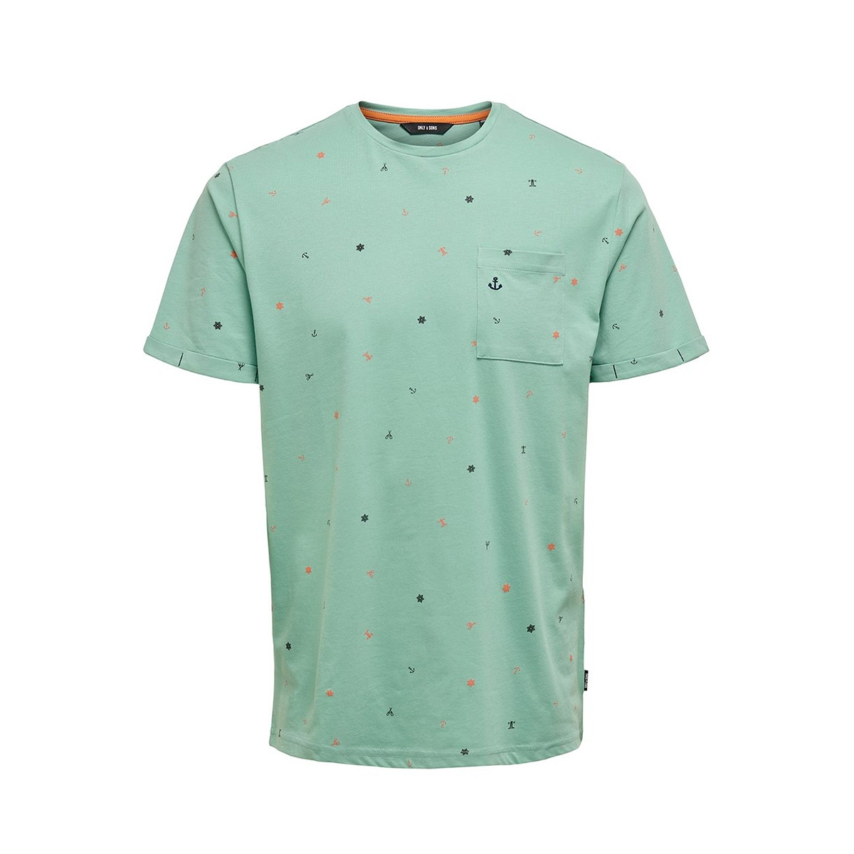 onsrussel reg ss aop tee 22015574 only & sons t-shirt aquifer