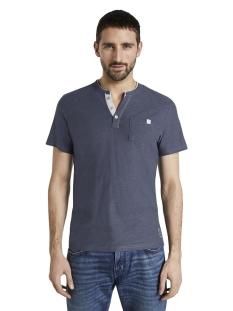 Tom Tailor T-shirt GESTREEPT HENLEY HEMD 1016145XX10 16061