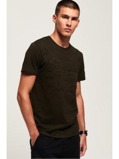 shirt shop embossed tee m1000033b superdry t-shirt albarn khaki green