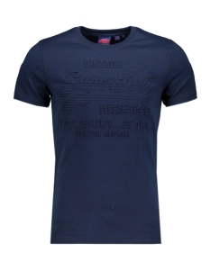 shirt shop embossed tee m1000033b superdry t-shirt buck blue marl