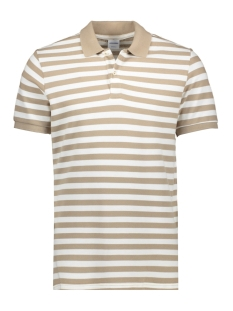 Jack & Jones Polo JORSTRIPED POLO SS 12165486 Crockery/REG FIT