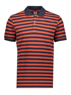 Jack & Jones Polo JORSTRIPED POLO SS 12165486 Chili/REG FIT
