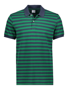 Jack & Jones Polo JORSTRIPED POLO SS 12165486 Verdant Green/REG FIT