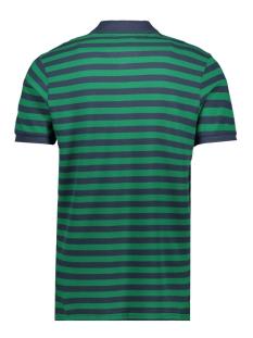 jorstriped polo ss 12165486 jack & jones polo verdant green/reg fit