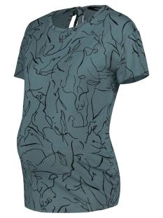 SuperMom Positie shirt TEE SS LINES GREEN 20210017 P102 BALSAM GREEN