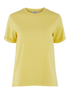 Pieces T-shirt PCRIA SS FOLD UP SOLID TEE NOOS BC 17086970 Lemon Drop