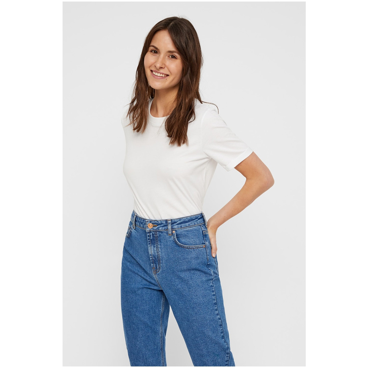 pcria ss fold up solid tee noos bc 17086970 pieces t-shirt bright white