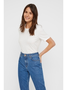Pieces T-shirt PCRIA SS FOLD UP SOLID TEE NOOS BC 17086970 Bright White