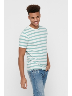 Only & Sons T-shirt onsELKY STRIPE SS TEE 22012161 Aquifer