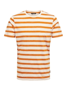 Only & Sons T-shirt onsELKY STRIPE SS TEE 22012161 Marmalade