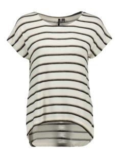 vmwide s/l kathy stripe top noos 10226736 vero moda t-shirt snow white/kathy