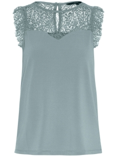 Vero Moda Top VMALBERTA SWEETHEART LACE S/L TOP 10211607 Slate