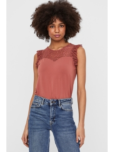 Vero Moda Top VMALBERTA SWEETHEART LACE S/L TOP 10211607 Marsala
