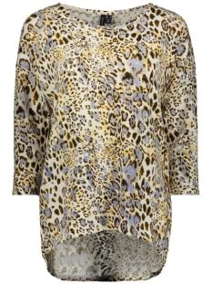Vero Moda T-shirt VMMALENA 3/4 AOP BLOUSE EXP 10239033 Birch/PURPLE WILDTIG