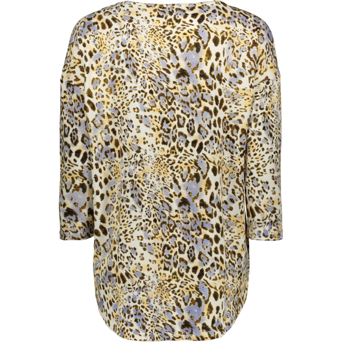 vmmalena 3/4 aop blouse exp 10239033 vero moda t-shirt birch/purple wildtig