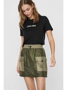 vmwoman20 ss tee vma 10227911 vero moda t-shirt black/snow white